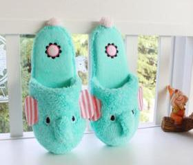 Cute Elephant Winter Indoor Slippers for Women