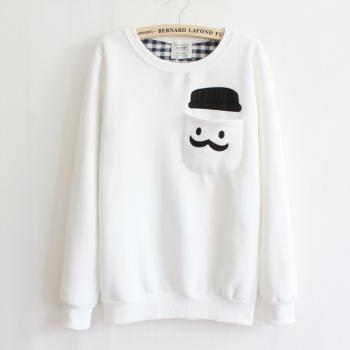 Thickened Cashmere Fashion Doll Head Sweater